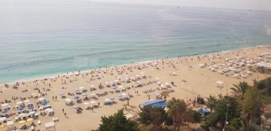 Plaża z góry
